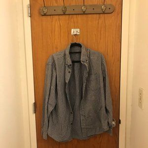 UO Urban Renewal Recycled Acid Wash Flannel Shirt